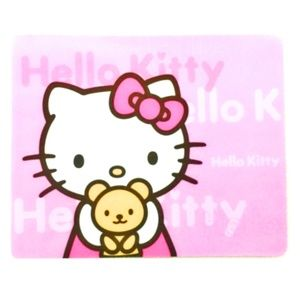 Hello Kitty Mouse Pad Thin Kitty & Teddy Pink Bow